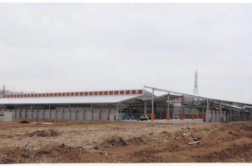 小美玉農場堆肥舎新築工事(一次発酵舎・ストックヤード)